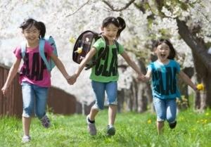 桜の樹の下で。入学記念写真
