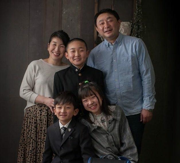 家族写真(入学記念をかねて)