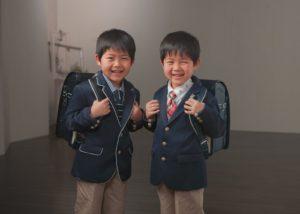 二人一緒に入学式だよ!