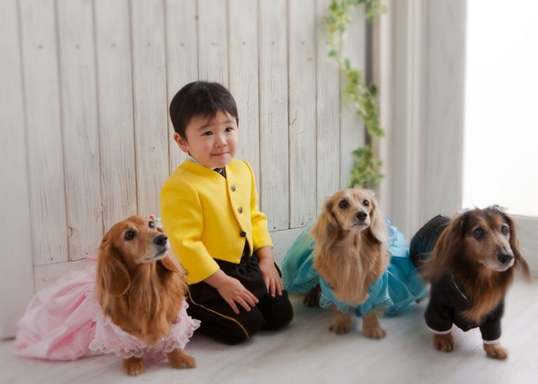 お誕生日記念。男の子。愛犬といっしょに。
