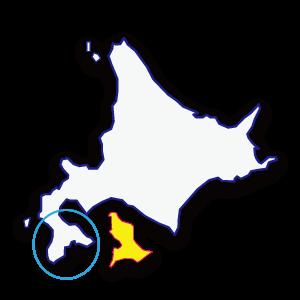 北海道の広さを千葉県地図を並べてっ感じでみる画像