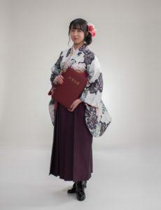 高校卒業写真(女性袴姿)