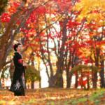 成人記念写真:紅葉前撮り:あさかぜ写真館撮影