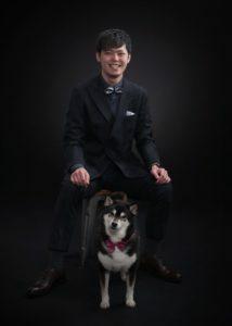 柴犬とお兄ちゃん(卒業写真)