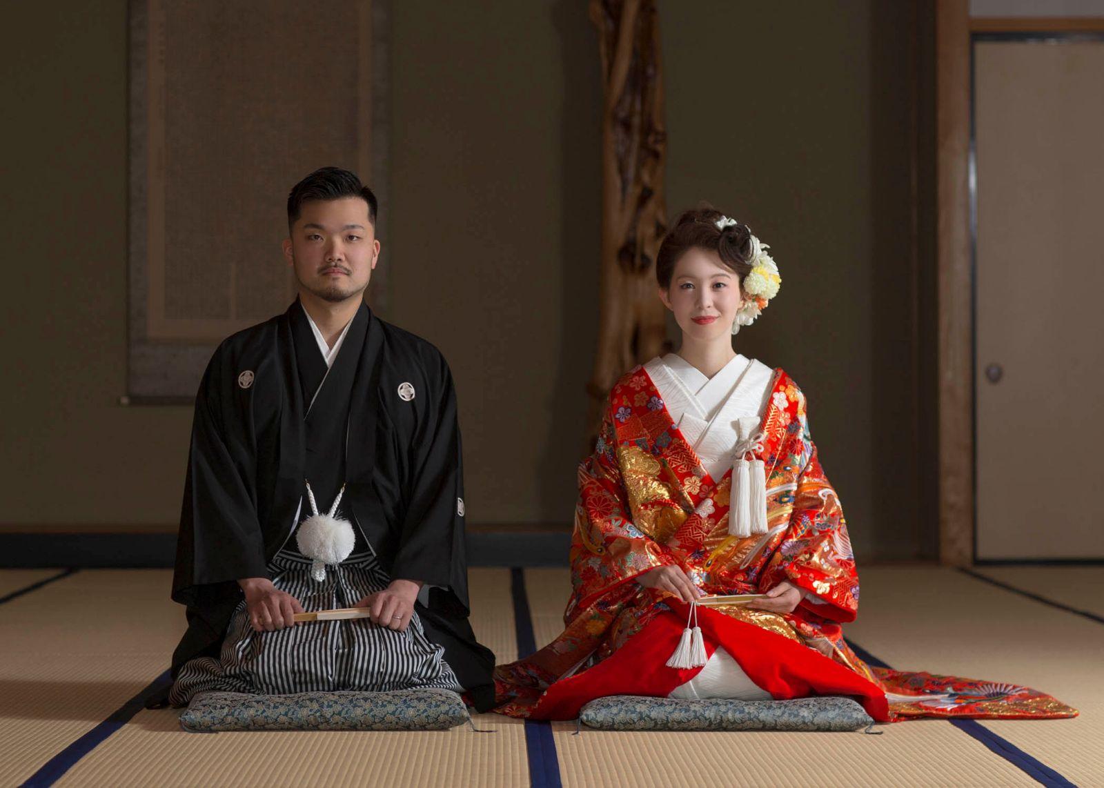 神社和室:結婚写真